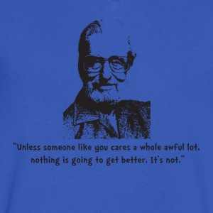 Seuss quote - Men's V-Neck T-Shirt by Canvas