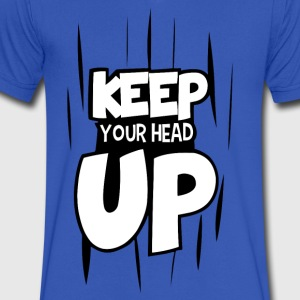 keep your head up - Men's V-Neck T-Shirt by Canvas