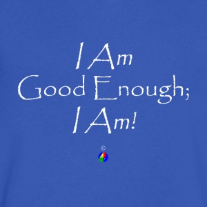 I_Am_Good_Enough_dark - Men's V-Neck T-Shirt by Canvas