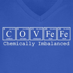 COVFeFe: Chemically Imbalanced - Men's V-Neck T-Shirt by Canvas