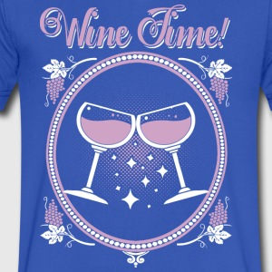 Wine Time! Funny Wine Shirt - Men's V-Neck T-Shirt by Canvas