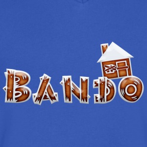 bando with house - Men's V-Neck T-Shirt by Canvas