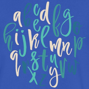 Alphabet Mood T Shirt - Men's V-Neck T-Shirt by Canvas