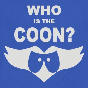 Who Is The Coon - Men's V-Neck T-Shirt by Canvas
