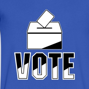 Vote – Ballot Box Design - Men's V-Neck T-Shirt by Canvas