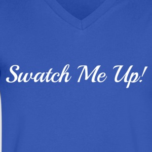 Swatch Me Up Shirt (White Lettering) - Men's V-Neck T-Shirt by Canvas
