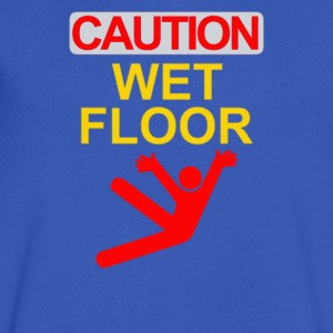 caution wet floor - Men's V-Neck T-Shirt by Canvas