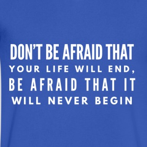 Don't Be Afraid - Men's V-Neck T-Shirt by Canvas