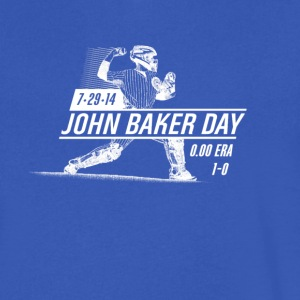 John Baker Day White - Men's V-Neck T-Shirt by Canvas