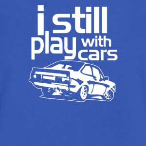 i stell play with car - Men's V-Neck T-Shirt by Canvas