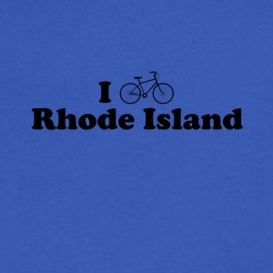rhode island biking - Men's V-Neck T-Shirt by Canvas