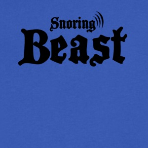 Snoring beast - Men's V-Neck T-Shirt by Canvas
