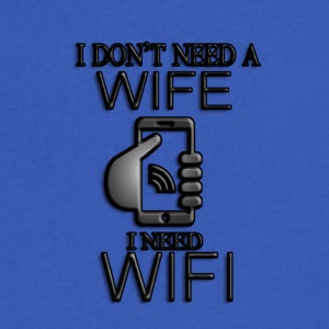 Need Wifi - Men's V-Neck T-Shirt by Canvas