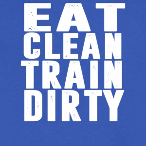 eat clean train dirty - Men's V-Neck T-Shirt by Canvas