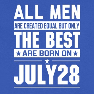 The Best Men Are Born On July 28 - Men's V-Neck T-Shirt by Canvas