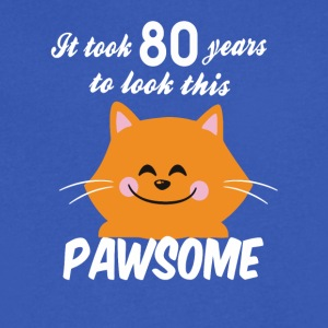 It took 80 years to look this pawsome - Men's V-Neck T-Shirt by Canvas