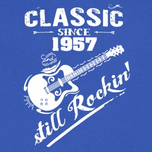 Classic Since 1957 and still Rokin - Men's V-Neck T-Shirt by Canvas