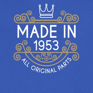 Made In 1953 All Original Parts - Men's V-Neck T-Shirt by Canvas