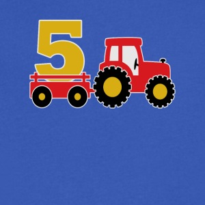 5 years old and truck - Men's V-Neck T-Shirt by Canvas