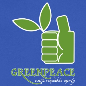 Greenpeace 100 renewable energy - Men's V-Neck T-Shirt by Canvas