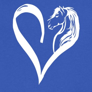 Horse Love - Men's V-Neck T-Shirt by Canvas
