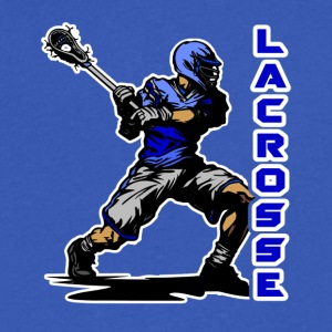 Lacrosse Tee & Hoodie - Men's V-Neck T-Shirt by Canvas