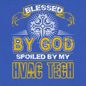 Blessed By God Spoiled By My HVAC Tech - Men's V-Neck T-Shirt by Canvas