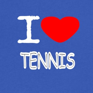 I LOVE TENNIS - Men's V-Neck T-Shirt by Canvas