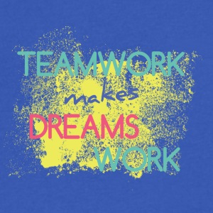Teamwork Makes Dreams Work - Men's V-Neck T-Shirt by Canvas
