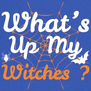 Whats Up My Witches Halloween - Men's V-Neck T-Shirt by Canvas