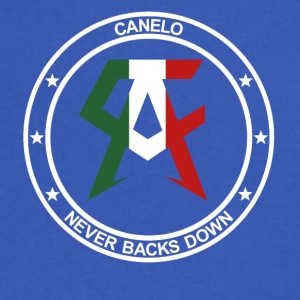 canelo never back down - Men's V-Neck T-Shirt by Canvas