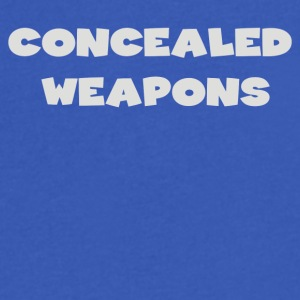 Concealed Weapons - Men's V-Neck T-Shirt by Canvas