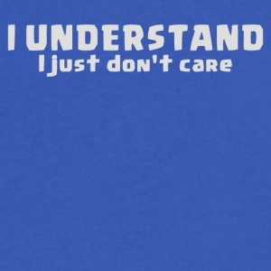 I Understand I Just Dont Care - Men's V-Neck T-Shirt by Canvas