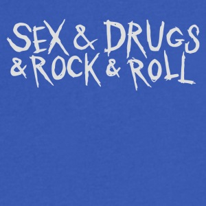 Sex and Drunk and Rock and Roll - Men's V-Neck T-Shirt by Canvas