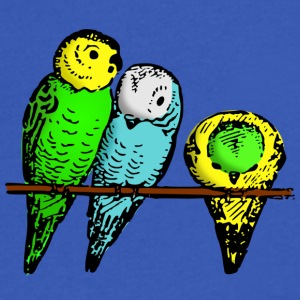 Budgies - Men's V-Neck T-Shirt by Canvas