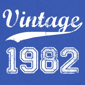 1982 - Men's V-Neck T-Shirt by Canvas