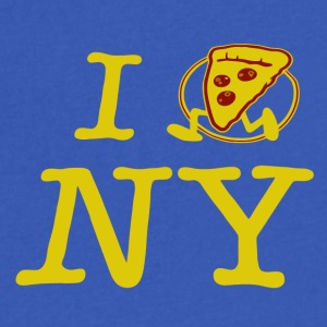 Pizza Run I Love NY - Men's V-Neck T-Shirt by Canvas