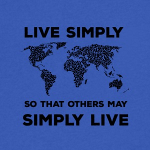 live simply - Men's V-Neck T-Shirt by Canvas