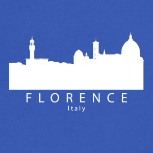 Florence Italy Skyline - Men's V-Neck T-Shirt by Canvas