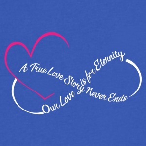Love For Eternity Tee Shirt - Men's V-Neck T-Shirt by Canvas