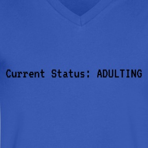 Current Status: Adulting - Men's V-Neck T-Shirt by Canvas