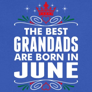 The Best Grandads Are Born In June - Men's V-Neck T-Shirt by Canvas