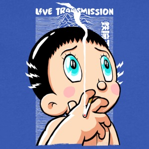 Live Transmission - Men's V-Neck T-Shirt by Canvas