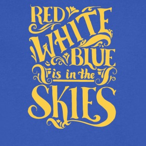 Red white blue is in the skies - Men's V-Neck T-Shirt by Canvas