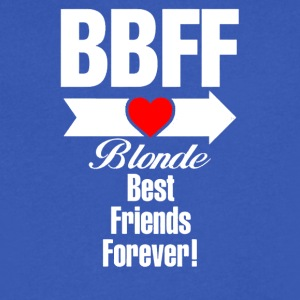 BLONDE BEST FRIEND FOREVER RIGHT ARROW - Men's V-Neck T-Shirt by Canvas