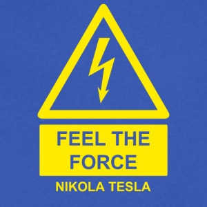 Nikola Tesla - Men's V-Neck T-Shirt by Canvas