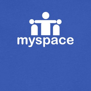 Myspace - Men's V-Neck T-Shirt by Canvas