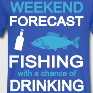 Fishing with a chance of drinking T Shirt - Men's V-Neck T-Shirt by Canvas