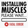 Installing Muscles (Fatal Error) - Men's V-Neck T-Shirt by Canvas