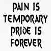 Pain Temporary Pride Forever Exercise Work out Tee - Men's V-Neck T-Shirt by Canvas